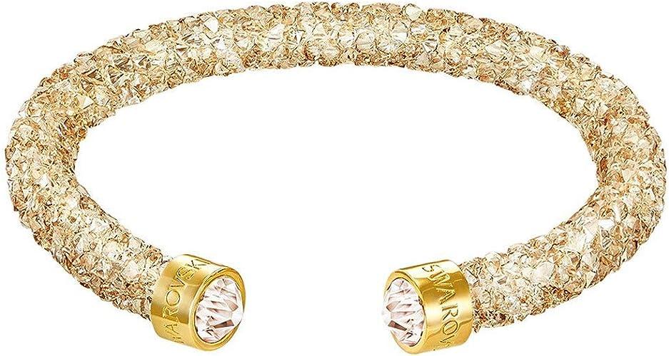 Swarovski Bracelet Femme - 5255897 - Plaqué Or - Cristal: Amazon ...
