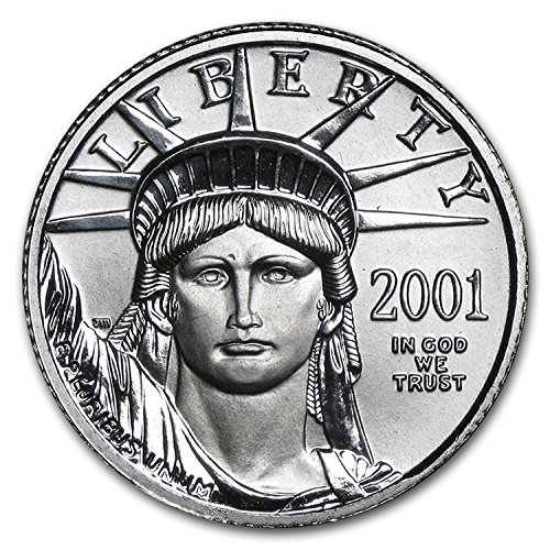 2001 1 10 Oz Platinum American Eagle Bu Issue Brilliant Uncirculated