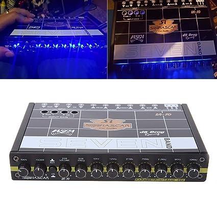 amazon com felix box 40hz 120hz car audio 7 band equalizer