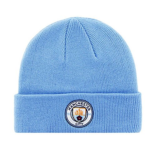 dults Official Knitted Winter Football/Soccer Crest Hat (One Size) (Blue) ()