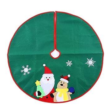 ohuhu 36 christmas tree skirt santa reindeer tree ornaments tree skirt for christmas