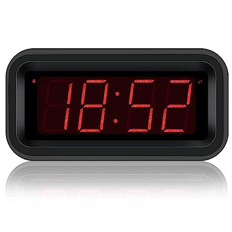 Amazon.com: Kwanwa Travel Digital Alarm Clock Small Battery ...