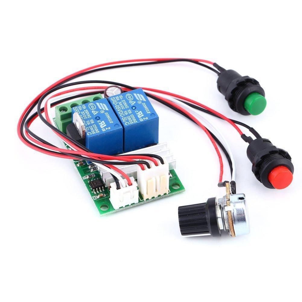 6V 12V 24V DC 3A DC Motor Speed Controller (PWM) Speed Adjustable Reversible Switch DC Motor Driver Reversing