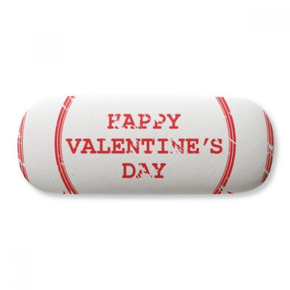 Postmark Happy Valentines Day Red Glasses Case Eyeglasses Clam Shell Holder Storage Box
