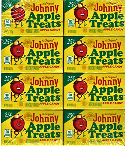 Lemonhead The Original Johnny Apple Treats Hard Candy, 0.80 oz, 24 ct