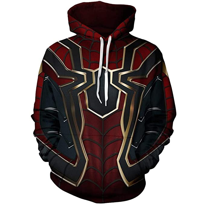 9ee324f8 WONTYE Avengers Infinity War Spiderman Hoodie Iron Spider-Man Coat Jacket  (Style- 1