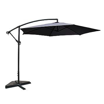 Mon Usine Dino Gris: Parasol déporté 300cm: Amazon.fr: Jardin