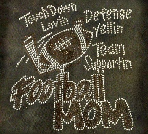 Football Mom Touch Down Loving N Rhinestone Transfer