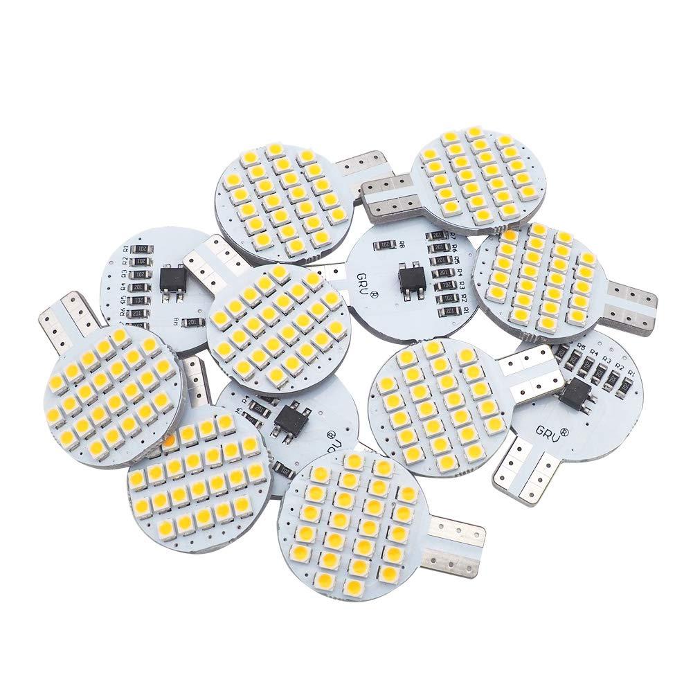 2nd Generation Glming T10 194 LED Light Bulb 192 C921 24-3528 SMD Super Bright DC 12V 2 Watt Boat RV Trailer Camper Motorhome Ceiling Dome Interior Light Warm White Pack of 6