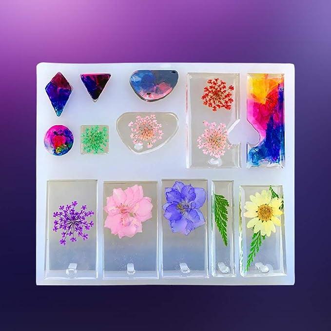 2 collares con forma de resina para manualidades y manualidades, diseño de molde de diferentes patrones: Amazon.es: Juguetes y juegos