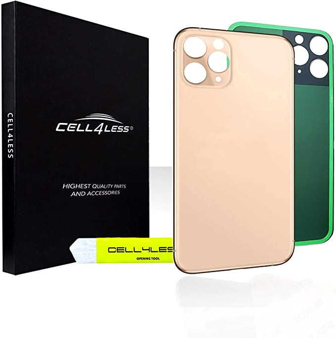 Cell Phones & Accessories Gold Vimour Back Glass Replacement for ...