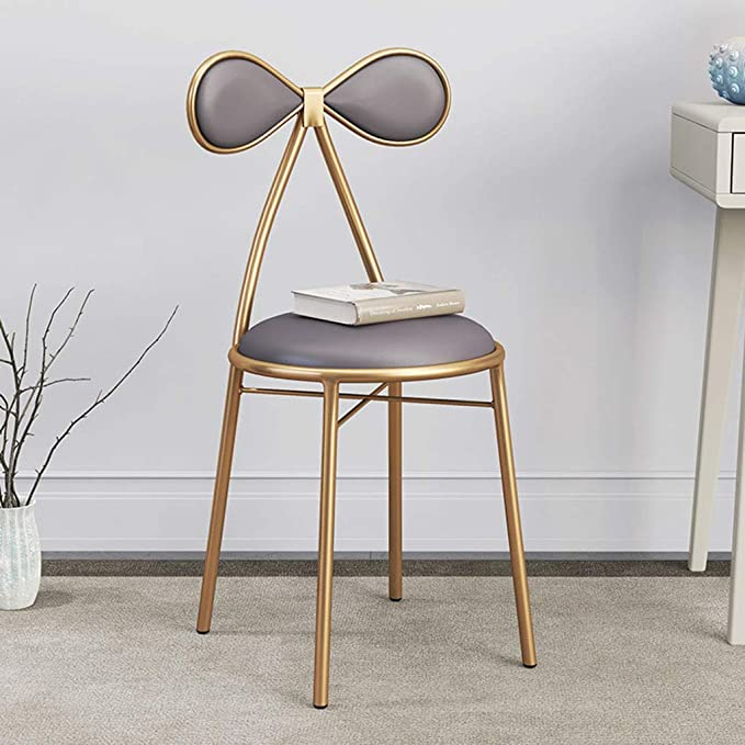 Amazon.com: Home Warehouse Vanity Chair,Household Golden Backrest ...