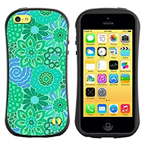 LASTONE PHONE CASE / Suave Silicona Caso Carcasa de Caucho Funda para Apple Iphone 5C / Teal Green Blue Pretty