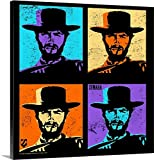 Great BIG Canvas Gallery-Wrapped Canvas entitled Clint Eastwood Multi Stamp