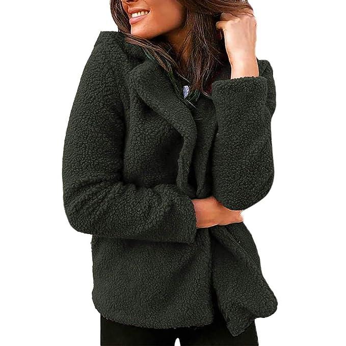 BHYDRY Las Mujeres Damas Traje sólido Chaqueta Chaqueta Abrigo Outwear Corto Abrigo Abrigos Calientes: Amazon.es: Ropa y accesorios