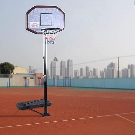 GYMAX 200 – 305 cm Juego de Baloncesto, Altura Ajustable, Soporte ...