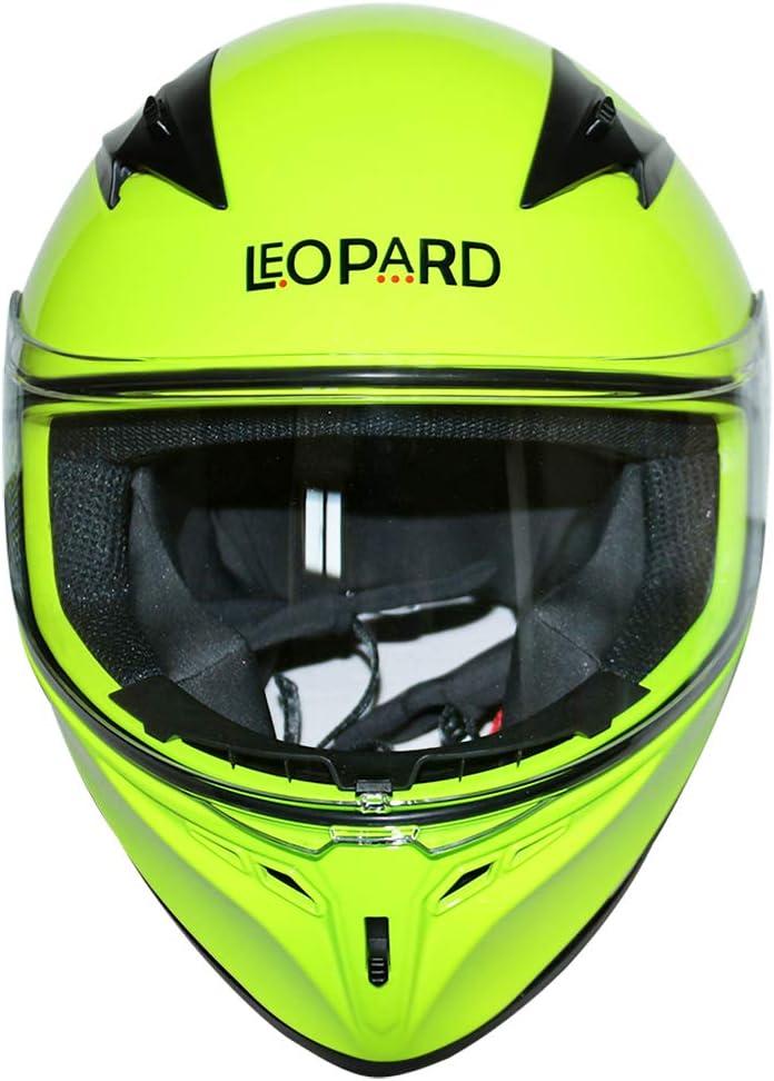 Visi/ère Claire suppl/émentaire Leopard LEO-813 Casque Moto Int/égral pour Scooter Chopper Casque de Moto Homme et Femme Demi-Jet ECE Homologu/é XS Noir 53-54cm