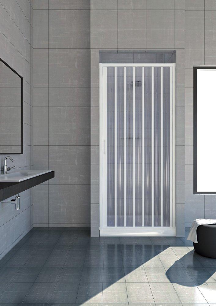 Box doccia in pvc a soffietto   1 lato, apertura laterale 80 cm ...