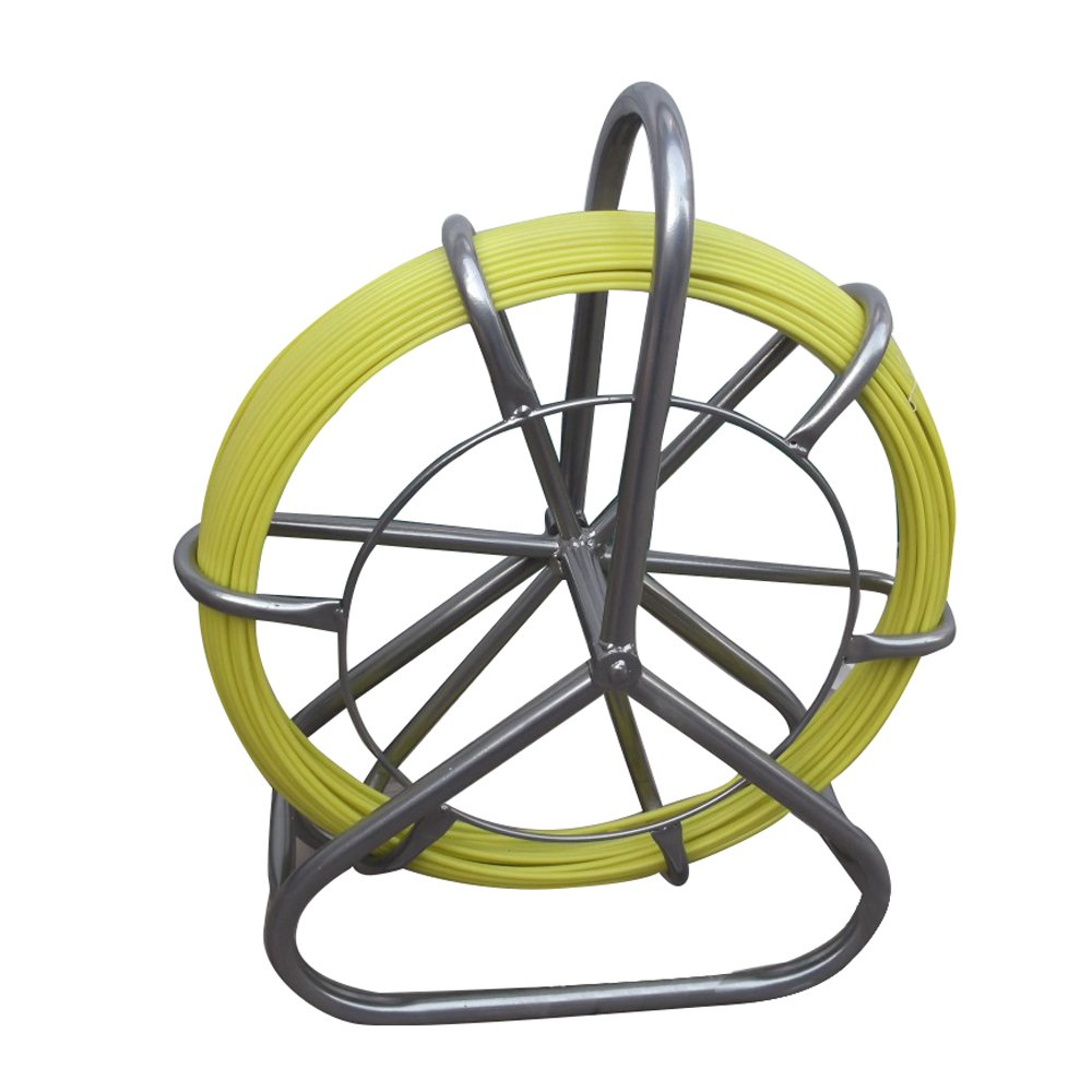 Vinmax Fish Tape Fiberglass Reel Wire Cable Running Rod Duct Rodder Fishtape Puller 6mm 425ft-Shipping from US by Vinmax