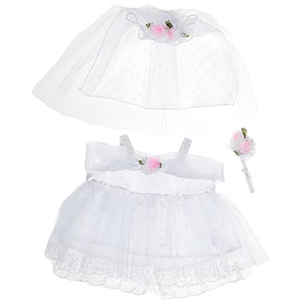 Amazon Com Bride Outfit Teddy Bear Clothes Fit 14 18 Build A