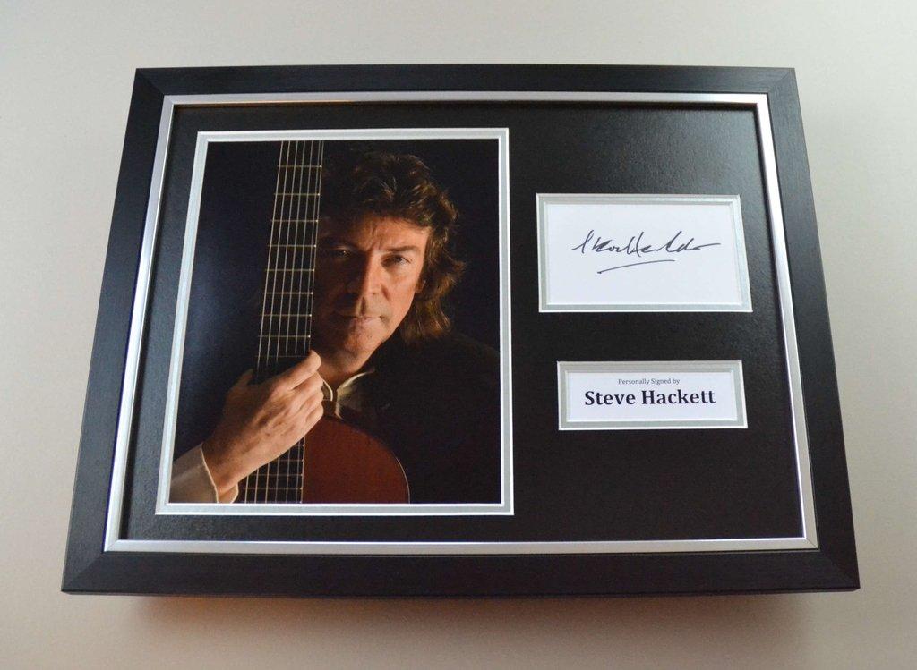 Steve Hackett Signiertes Foto gerahmt 16 x 12 Genesis Autogramm ...