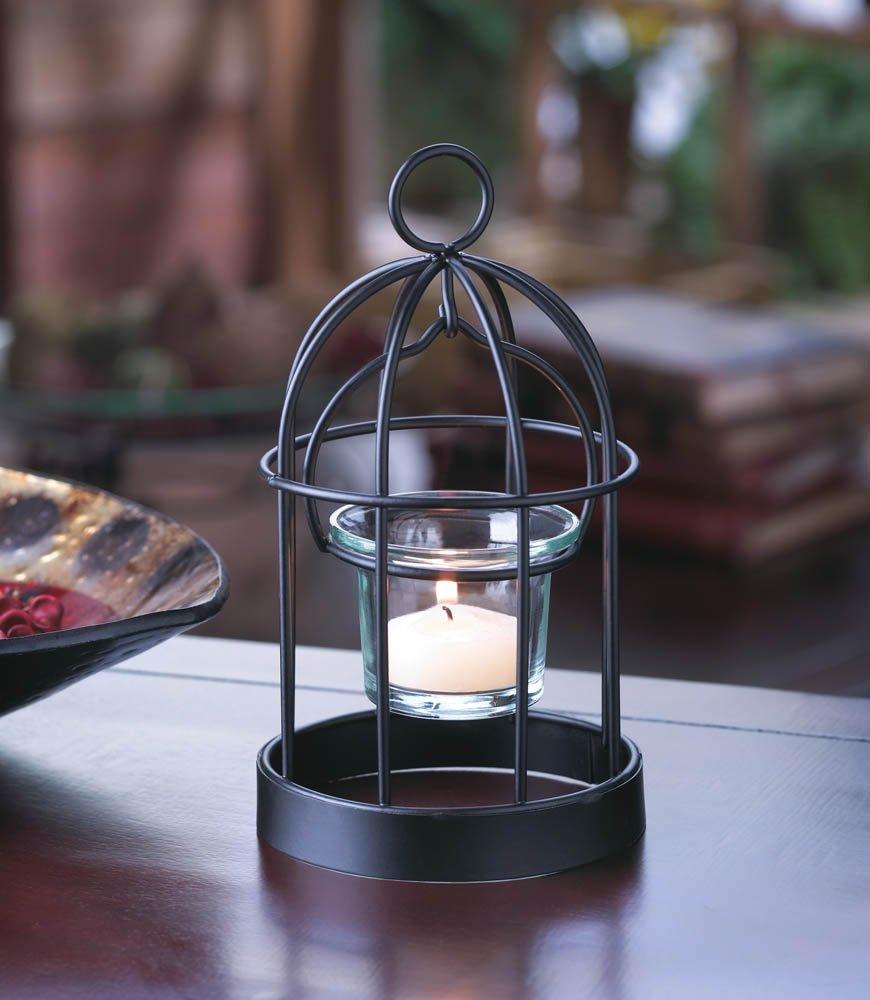 Koehler Holiday Seasonal Home Decor Iron Charming Mini Birdcage Hanging Candleholder 10015368