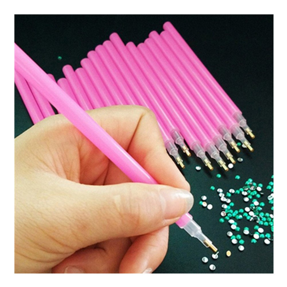Born Pretty 1Pc Pink Nail Art Rhinestone Gem Picker Dotting Pen Manicure Nail Art Tool