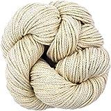 Living Dreams Newport CHAINETTE Aran Yarn. Super Soft Cotton Alpaca for Knitting, Crochet, Wall Art & Macrame. Cruelty Free & Responsibly Sourced Undyed Fiber