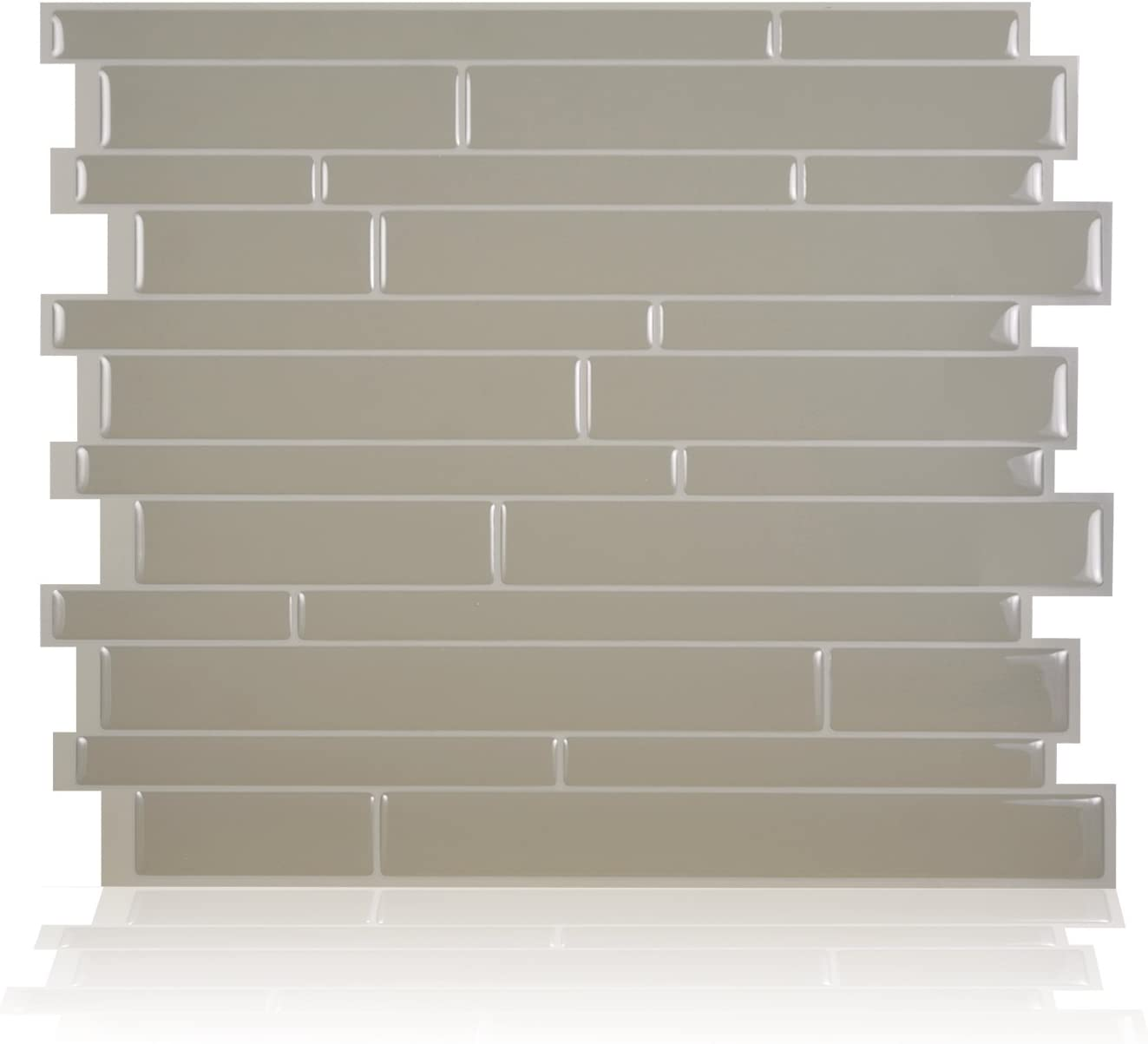 - Smart Tiles Peel And Stick Backsplash And Wall Tile Milano Taupe