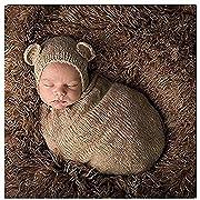 Newborn Baby Photography Props Boy Girl Crochet Costume Outfits Cute Hat Sleeping Bag