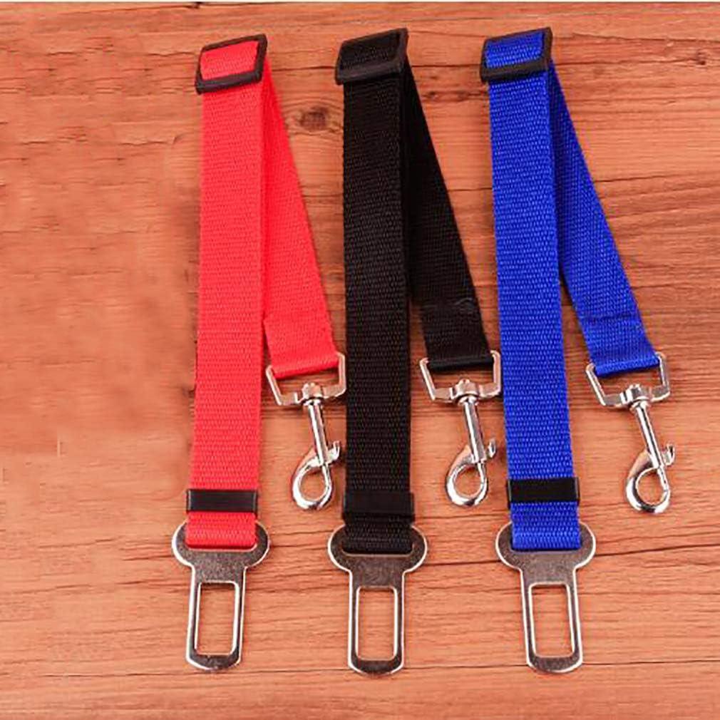 #N//A JIUZUI Dog Seat Belt,Adjustable Pet Car Safety Seat Strap Leads Vehicle Seatbelt Harness,Blue