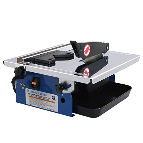 Leegol Electric 7-Inch Wet Tile Saw - Portable Wet Cutting