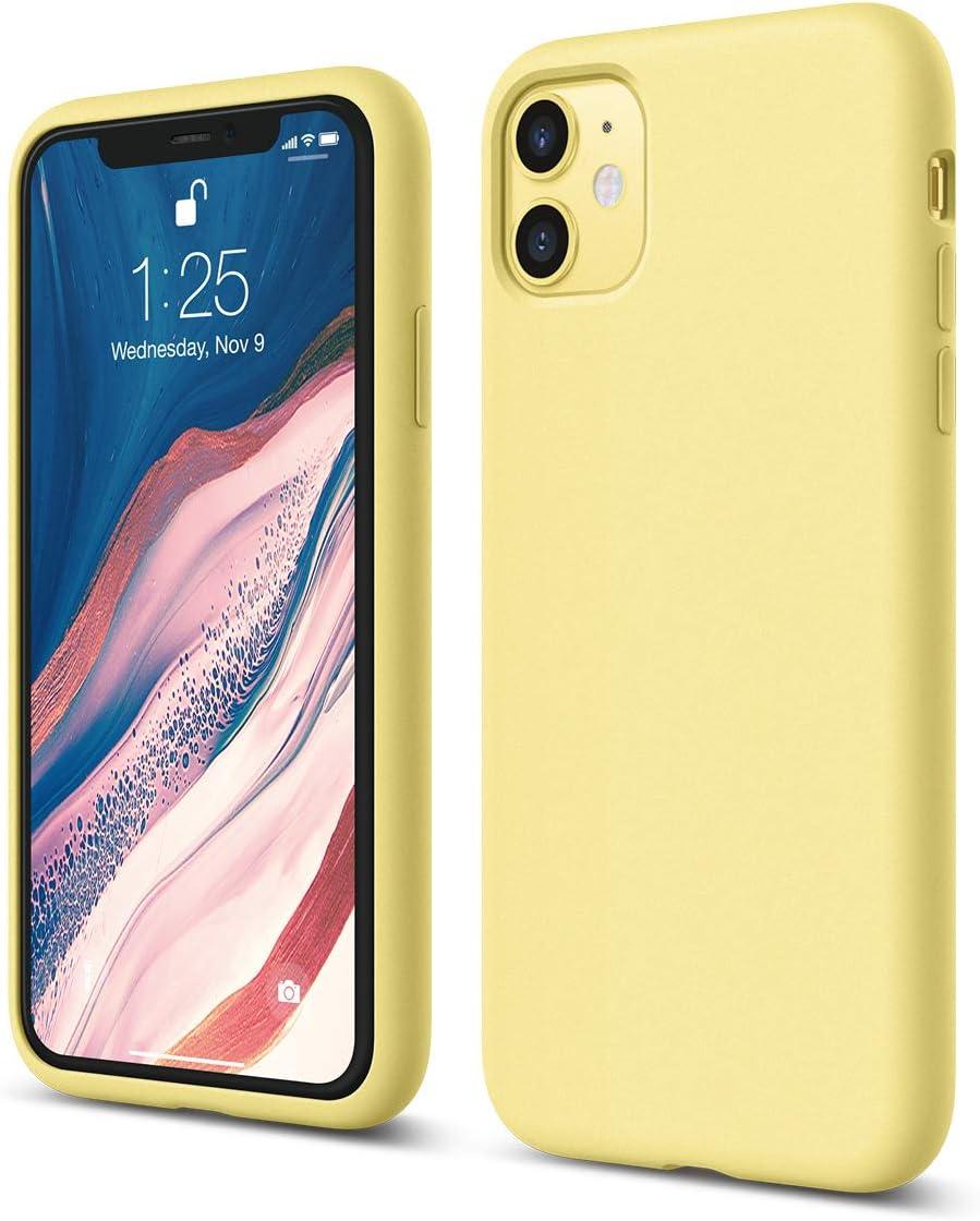elago iPhone 11 Case |Yellow| - Premium Liquid Silicone, Raised Lip (Screen & Camera Protection), 3 Layer Structure, Full Body Protection, Flexible Bottom