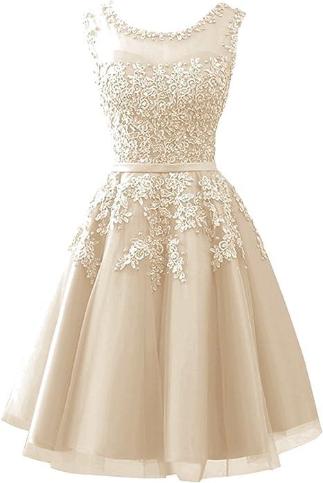 Clla Dress Damen Abendkleider Mit Applikationen Elegant Ballkleid Brautjungfernkleider Kurz Partykleid Amazon De Bekleidung