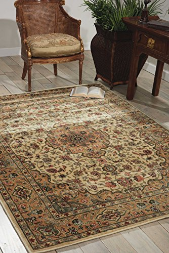 - Nourison Persian Arts (BD02) Ivory/Gold Rectangle Area Rug, 7-Feet 9-Inches by 10-Feet 10-Inches (7'9