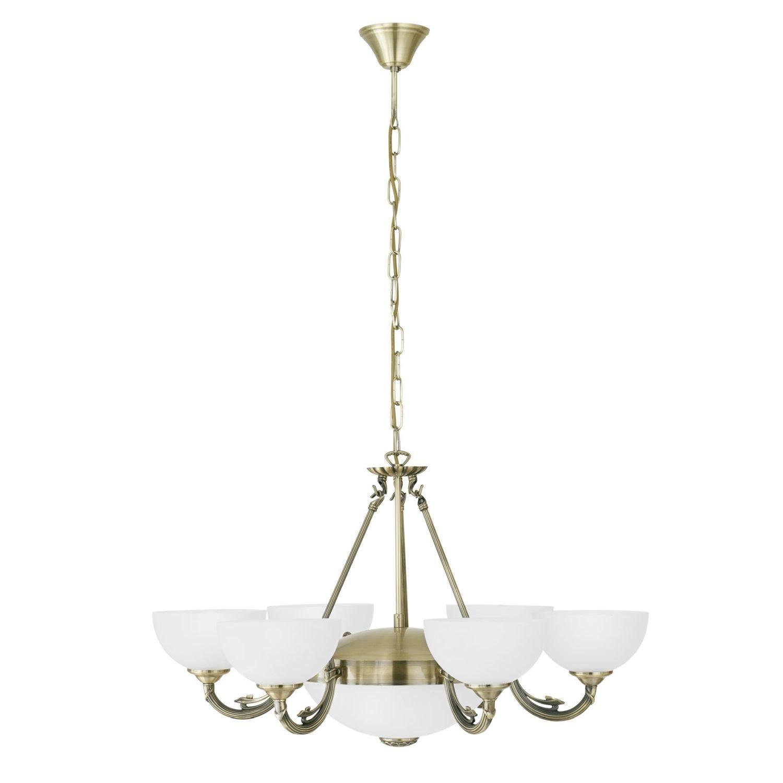 Premium - Lámpara de araña (estilo modernista, carcasa, con ...