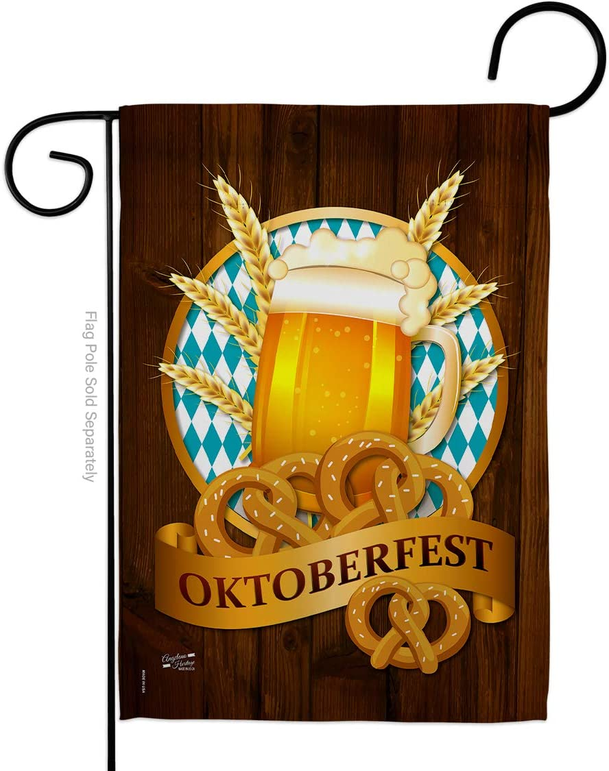 Angeleno Heritage - Oktoberfest Happy Hour & Drinks - Everyday Beverages Impressions Decorative Vertical Garden Flag 13