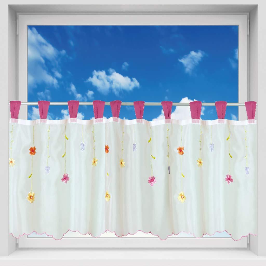 Bunt Herzen Arsvita Bistrogardine mit Schlaufen ca 150x45 cm Auswahl