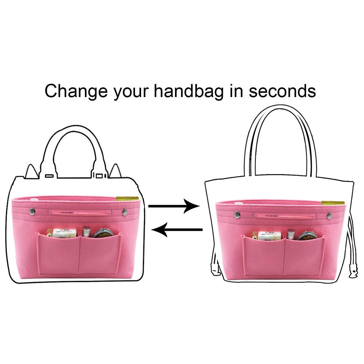 HyFanStr Womens Purse Organizer Handbag Tote Insert Bag Tidy Travel Storage Bag Large