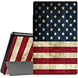 Fintie Slim Case for All-New Amazon Fire HD 10 Tablet (7th Generation, 2017 Release) - Ultra Lightweight Protective Stand Cover with Auto Wake/Sleep for Fire HD 10.1 Inch Tablet, US Flag