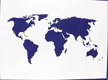 Amazon map of the world stencil 14 mil 18 x 24 painting map of the world stencil 14 mil 18quot x 24quot gumiabroncs