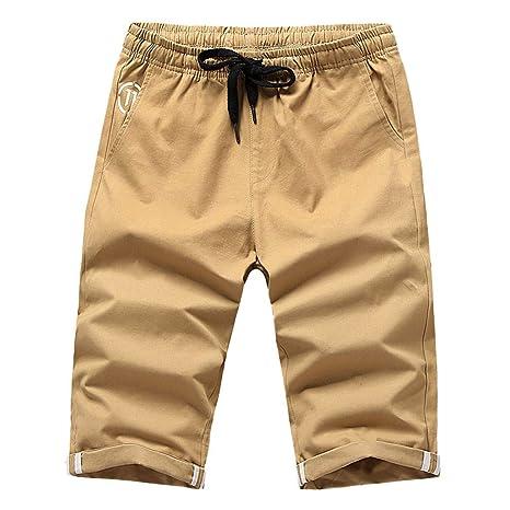 ZODOF pantalon corto hombre Verano Sólido Bañador Tablero ...