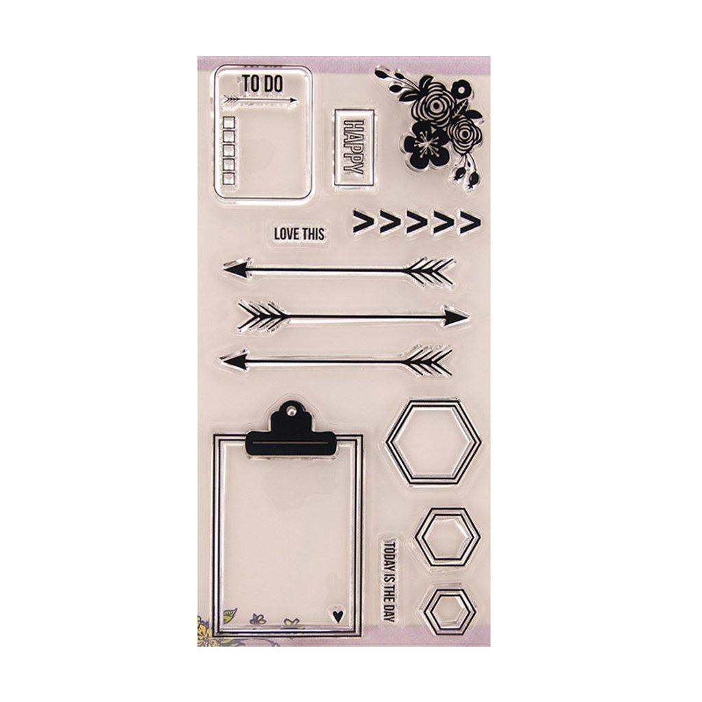 Silikon Stempel Set Clear Stamps Schneiden Schablonen ECMQS DIY Transparente Briefmarke Bastelei Scrapbooking-Werkzeug
