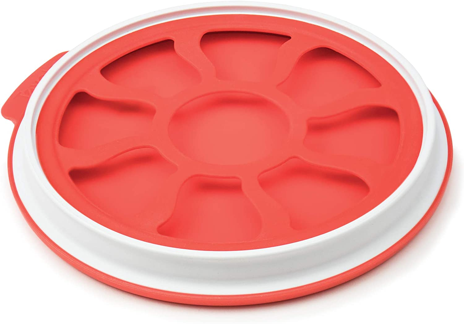 Tovolo Produce Keeper Food Storage for Fruit, Onions & Veggies - Seal 'N Store, Large, Red