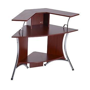 corner computer desk hutch brown sauder with antiqued white finish plans