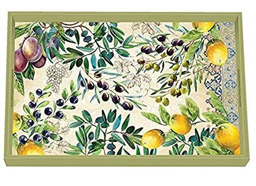 Cheap  Michel Design Works 12.25 x 7.75 Tuscan Grove Wooden Decorative Vanity Tray