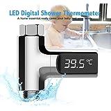 Ttermometro ducha led,Pawaca termometro ducha, termómetro de auto generación de agua, monitor