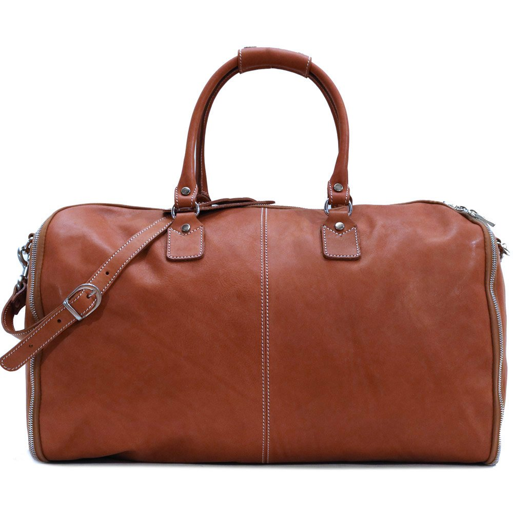 Convertible Full Grain Leather Garment Duffle Bag - Floto Parma Edition by Floto
