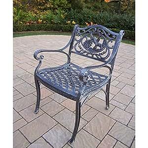 Oakland Living Corporation Lattice Cast Aluminum Arm Chair