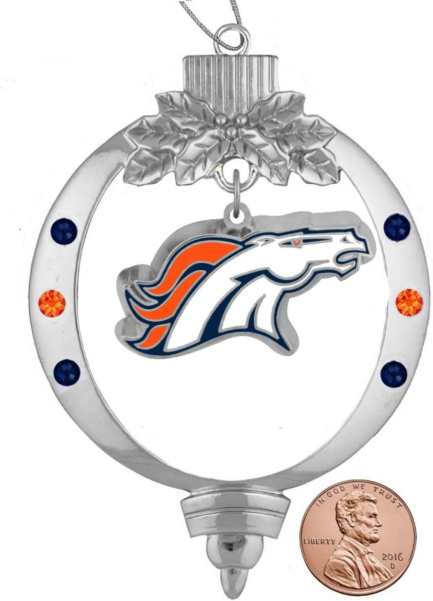Final Touch Gifts Broncos Christmas Ornament